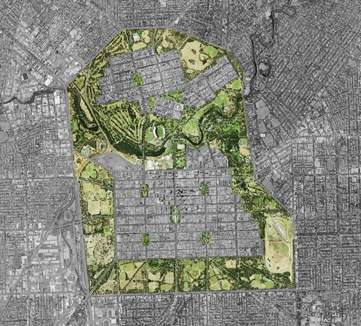 Map of the Adelaide Park Lands Area